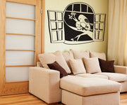 Vinyl Wall Decal Sticker Family of Birds in Window #OS_DC331