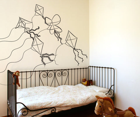 Vinyl Wall Decal Sticker Flying Kites #OS_DC269