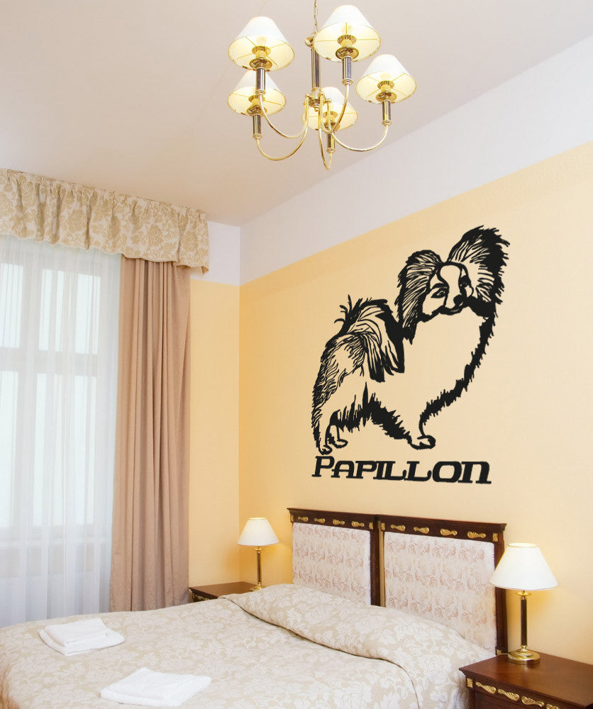 Vinyl Wall Decal Sticker Papillon #OS_AA627
