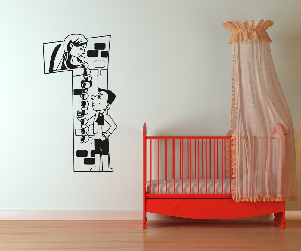 Vinyl Wall Decal Sticker Rapunzel Number One #OS_DC240
