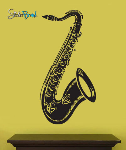 Vinyl Wall Decal Sticker Saxophone Music Instrument #204