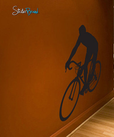 Vinyl Wall Decal Sticker Bicyclist Bicycle Bike Rider #214
