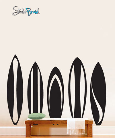 Vinyl Wall Decal Sticker Surfboards Series Set #216