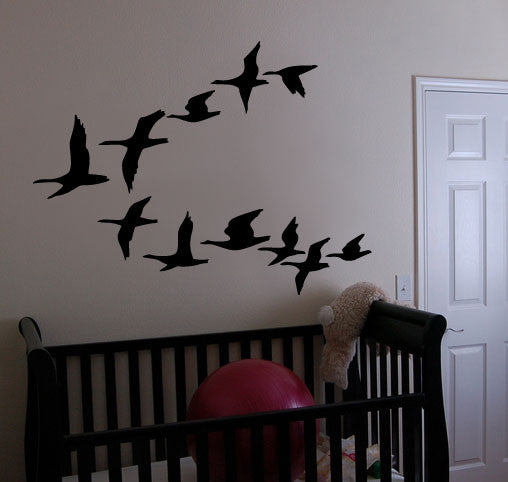 Vinyl Wall Decal Sticker Flying Geese Ducks Birds 162