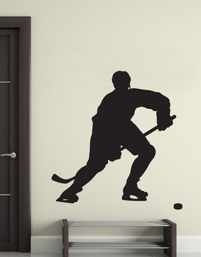 Hockey Player Vinyl Wall Decal Sticker.  #221