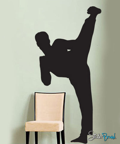 Vinyl Wall Decal Sticker Karate Kick #224