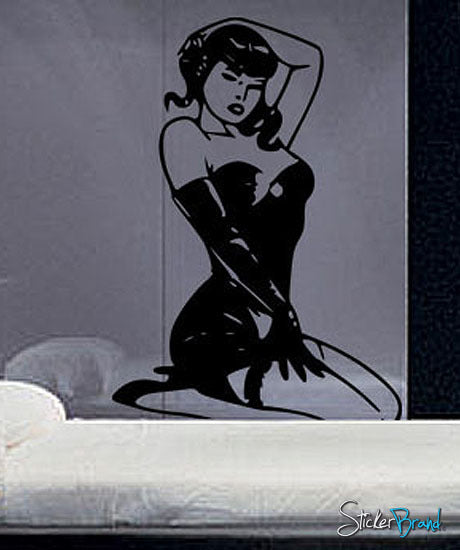 Vinyl Wall Decal Sticker Sexy Pinup Girl Model #226