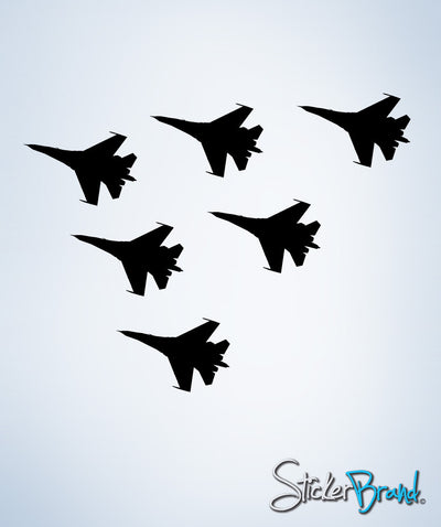 Vinyl Wall Decal Sticker 6 Military Fighter Jets Decal #228