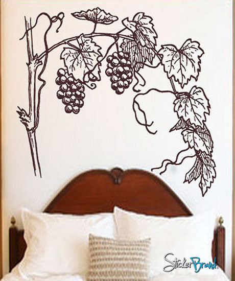Vinyl Wall Decal Sticker Grapevine flower floral #231