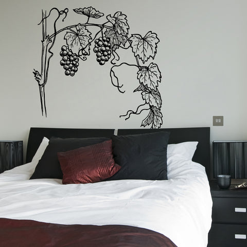 Grapevine Wine Vinyl Wall Decal Sticker.  #231