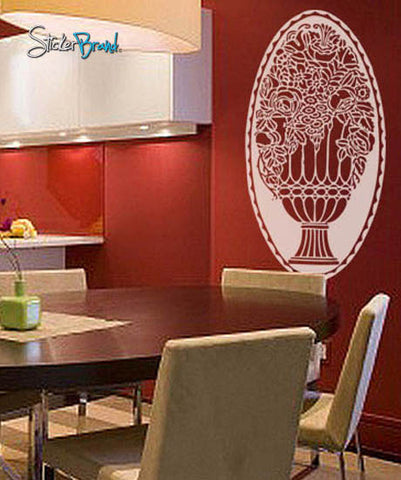 Vinyl Wall Decal Sticker Floral Rose Ornaments #233