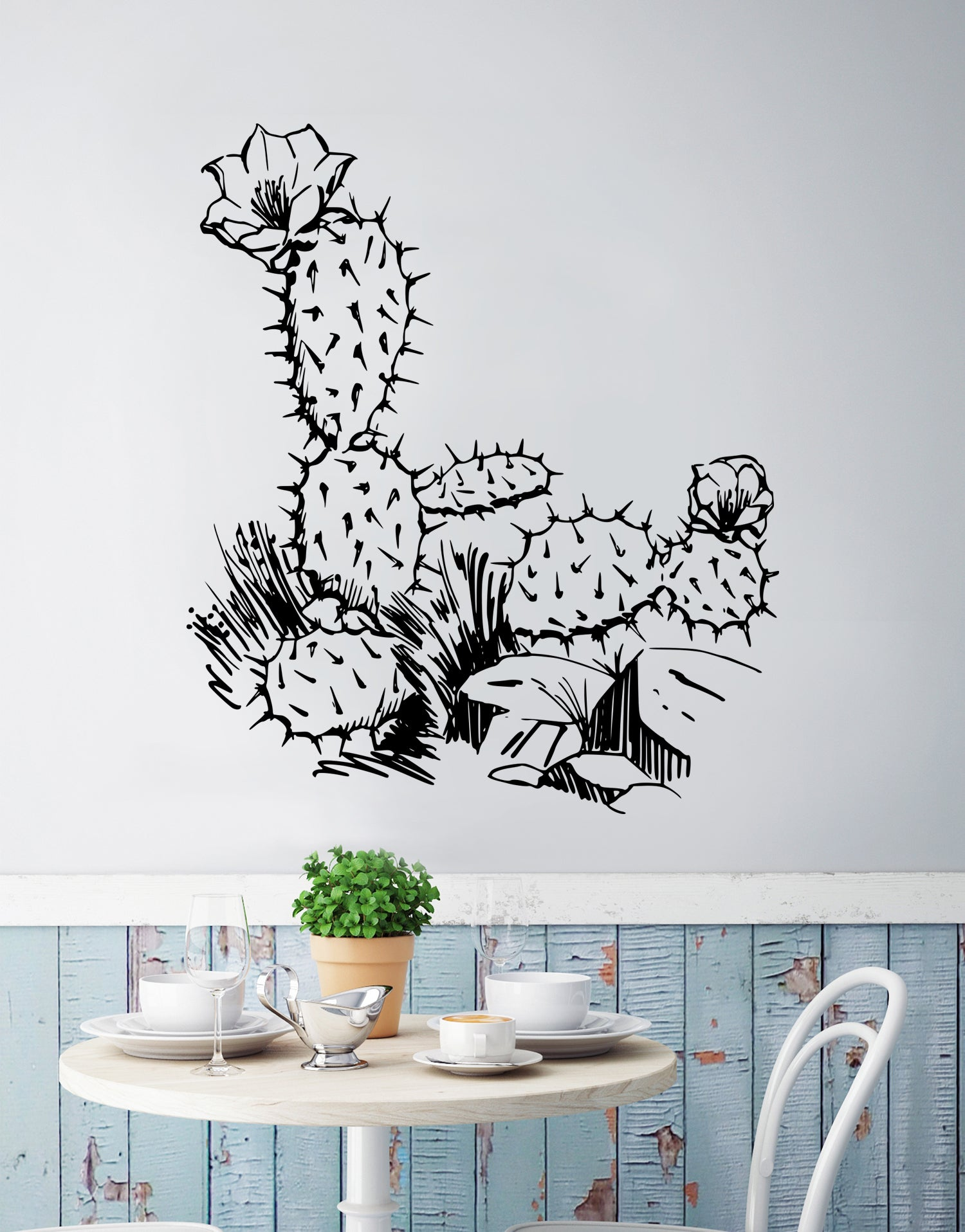 Arizona Desert Cactus Wall Decal. #236