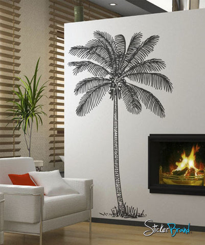 vinyl wall decal sticker coconut palm tree 237 stickerbrand wall art decals wall graphics. Black Bedroom Furniture Sets. Home Design Ideas