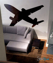 Vinyl Wall Decal Sticker Flying Airplane #238