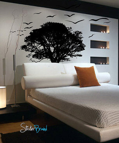 Tree Silhouette Wall Stickers Vinyl Wall Decal Sticker Tree
