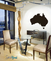 Vinyl Wall Decal Sticker Map of Australia #242