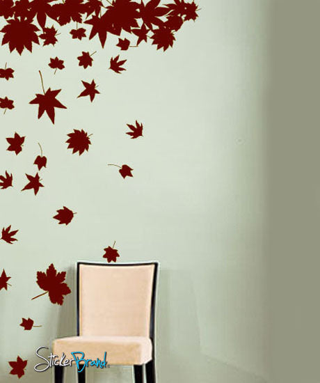 Vinyl Wall Decal Sticker Big Autumn Tree Leaves Falling - Wall decals leaves