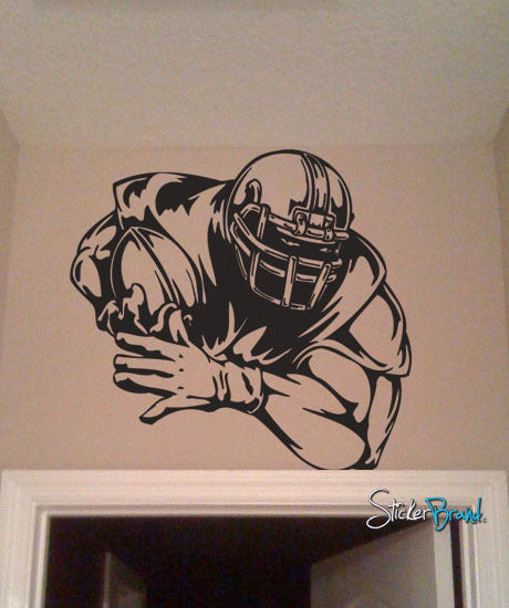 Vinyl Wall Decal Sticker Big Football Player Decoration #245