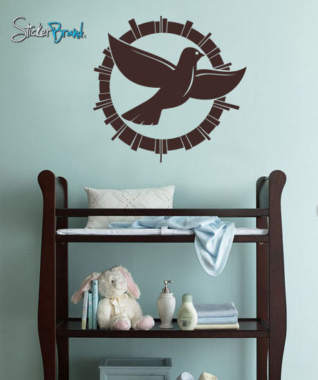 Vinyl Wall Decal Sticker Peace Dove #253