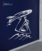 Vinyl Wall Decal Sticker Wind Surfing #255