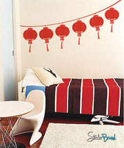 Vinyl Wall Decal Sticker Chinese Festival Lantern #261