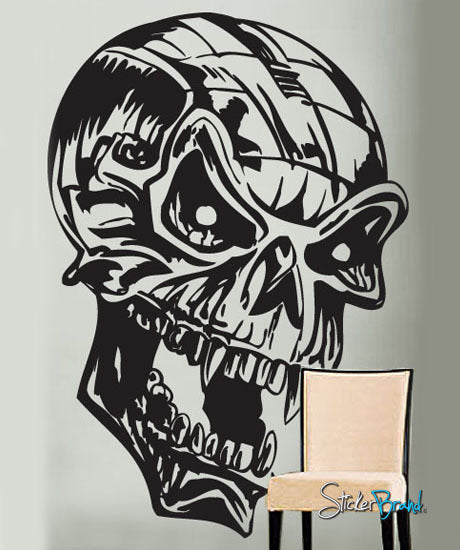 Vinyl Wall Decal Sticker Metal Skull Head #266