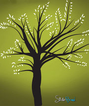 Vinyl Wall Decal Sticker Winter Tree Blossom Leaves #270