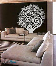 Vinyl Wall Decal Sticker Swirling Circle Tree #271