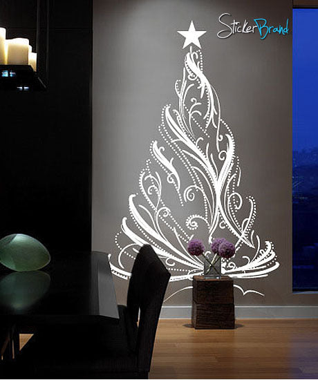 Vinyl Wall Decal Sticker Christmas Tree 281