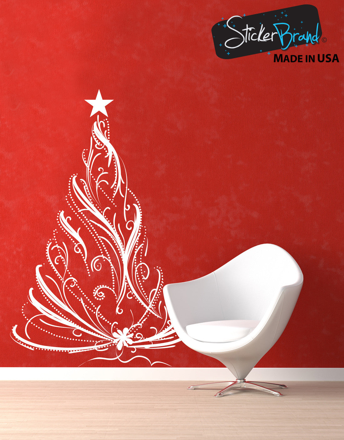 Vinyl Wall Decal Sticker Christmas Tree #281