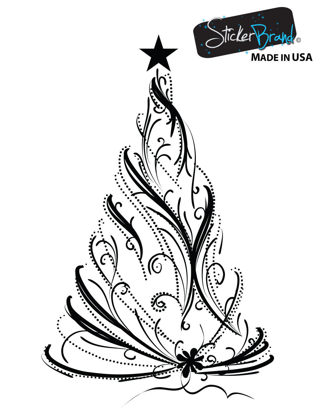 Vinyl wall decal sticker christmas tree 281 amipublicfo Images
