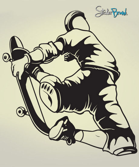 Vinyl Wall Decal Sticker Extreme Sports Skate Jump #282