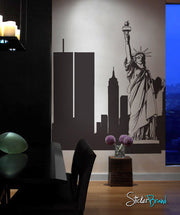 New York City Statue Liberty Vinyl Wall Decal Sticker. #283