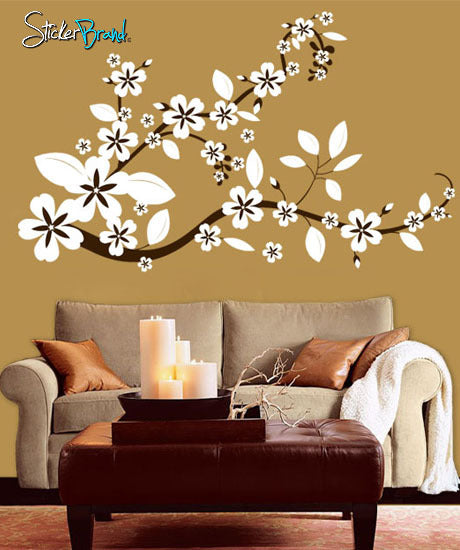 Vinyl Wall Decal Sticker Flower Floral Asian Blossom #284 Part 94