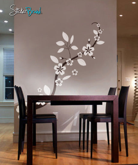 Vinyl Wall Decal Sticker Asian Blossom Flower - Vinyl wall decals asian