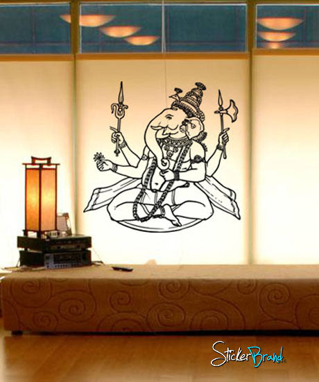 Vinyl Wall Decal Sticker Ganesha #287