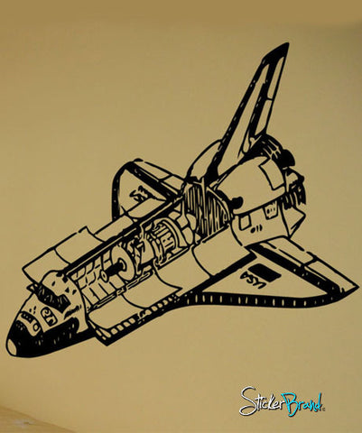 Vinyl Wall Decal Sticker Space Shuttle #288