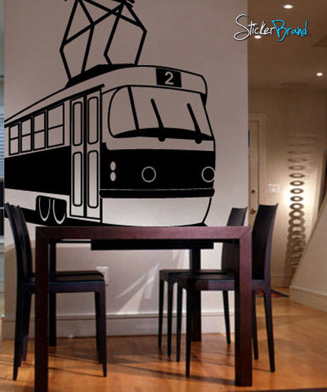 Vinyl Wall Decal Sticker Subway Cable Train #290
