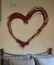 Vinyl Wall Decal Sticker Heart Love Splatter Art #292