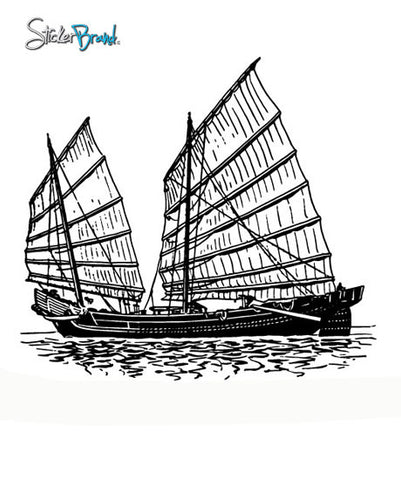 Vinyl Wall Decal Sticker Hong Kong Junk Boat Ship #293