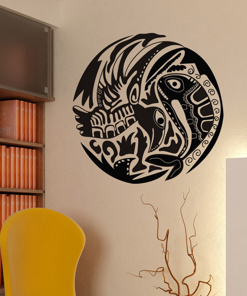 Vinyl Wall Decal Sticker Alaskan Fish and Bird #OS_DC152