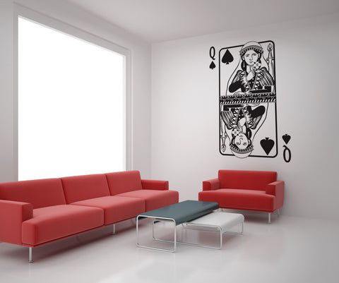Vinyl Wall Decal Sticker Queen of Spades #OS_DC364