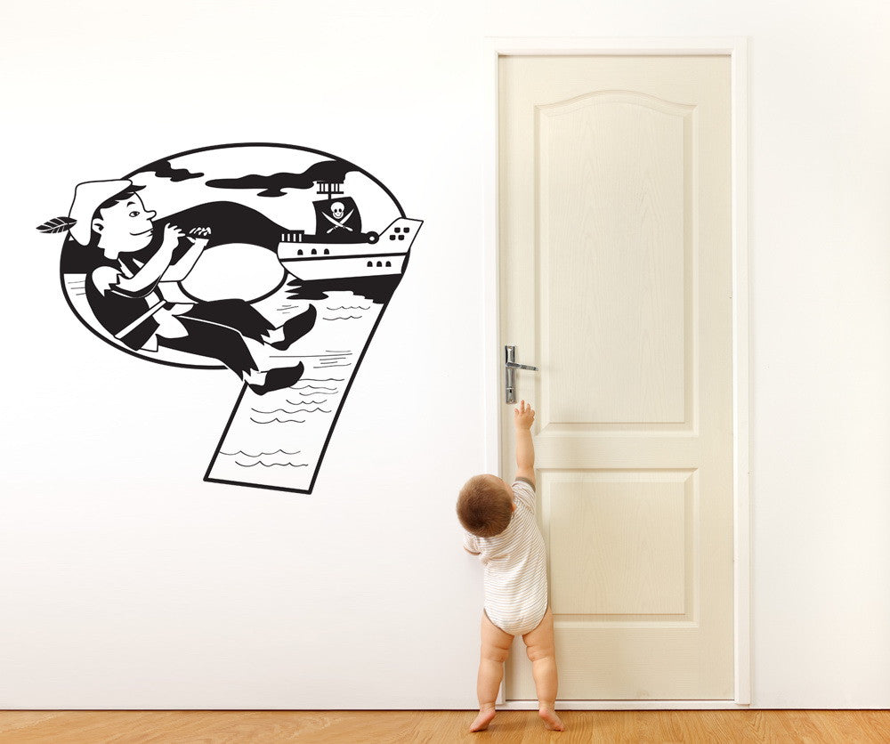 Vinyl Wall Decal Sticker Peter Pan Number Nine #OS_DC256