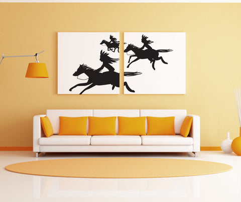 Vinyl Wall Decal Sticker Running Horses #OS_DC285