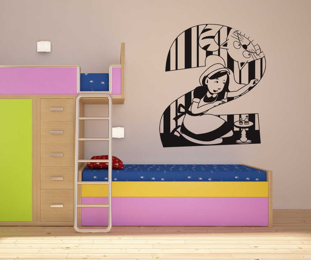 Vinyl Wall Decal Sticker Alice in Wonderland Number Two #OS_DC242
