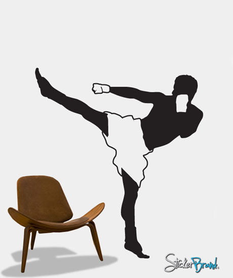 Vinyl Wall Decal Sticker Kick Boxer Kickboxing Muay Thai #303