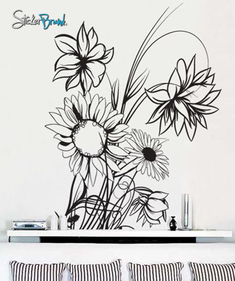 Vinyl Wall Decal Sticker Sunflower #305