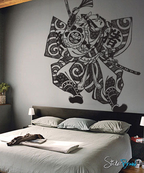 Vinyl Wall Decal Sticker Japanese Samurai Fighter #308