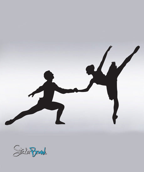 Vinyl Wall Decal Sticker Dual Ballet Dancer #311