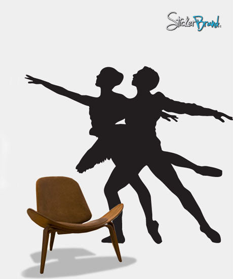 Vinyl Wall Decal Sticker Dual Ballet Ballerina Dancer #313